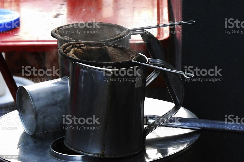 traditional coffee and tea pot royalty-free stock photo