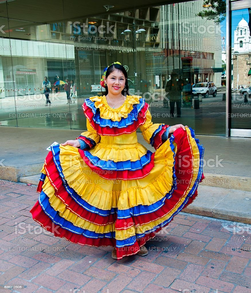 Traditional Colombian dress stock photo