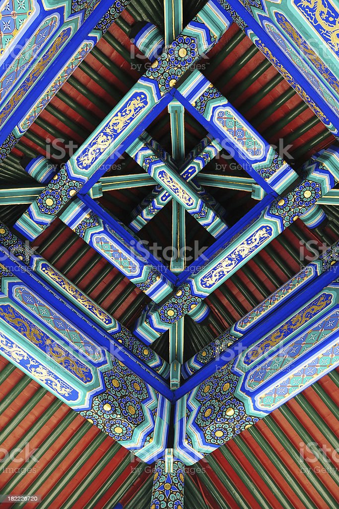 Traditional Colorful Roof - XLarge royalty-free stock photo