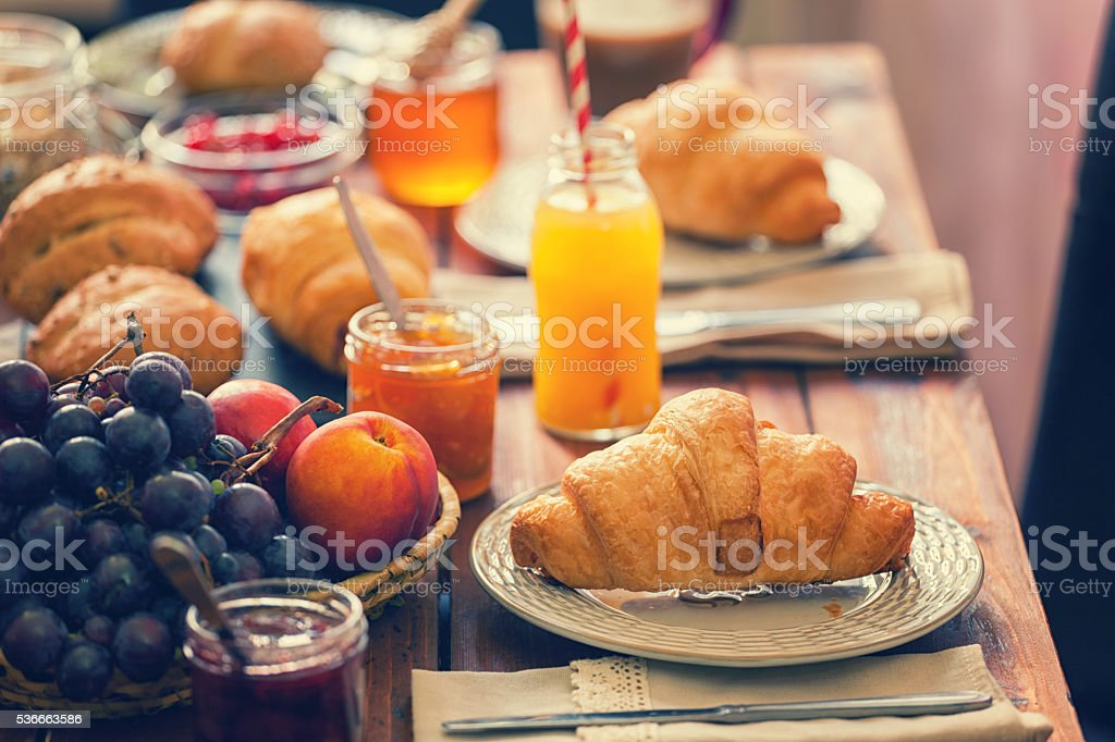 Traditional Continental Breakfast stock photo