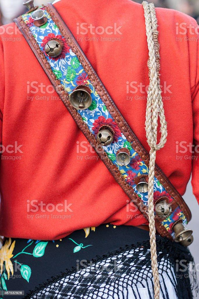Traditional costume, Sardinia (Italy) stock photo