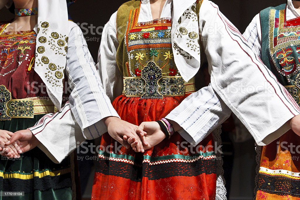 Traditional costumes. stock photo