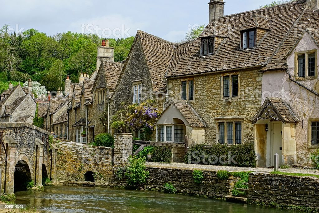 traditional Cotswold Village 6 stock photo