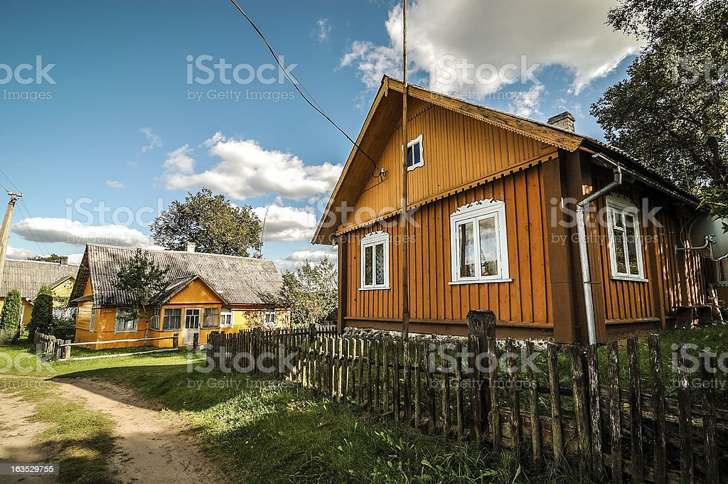 Traditional countryside farmstead stock photo