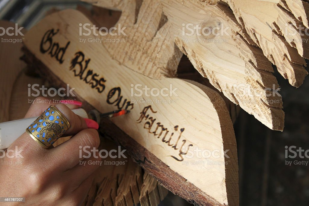Traditional Crafting stock photo