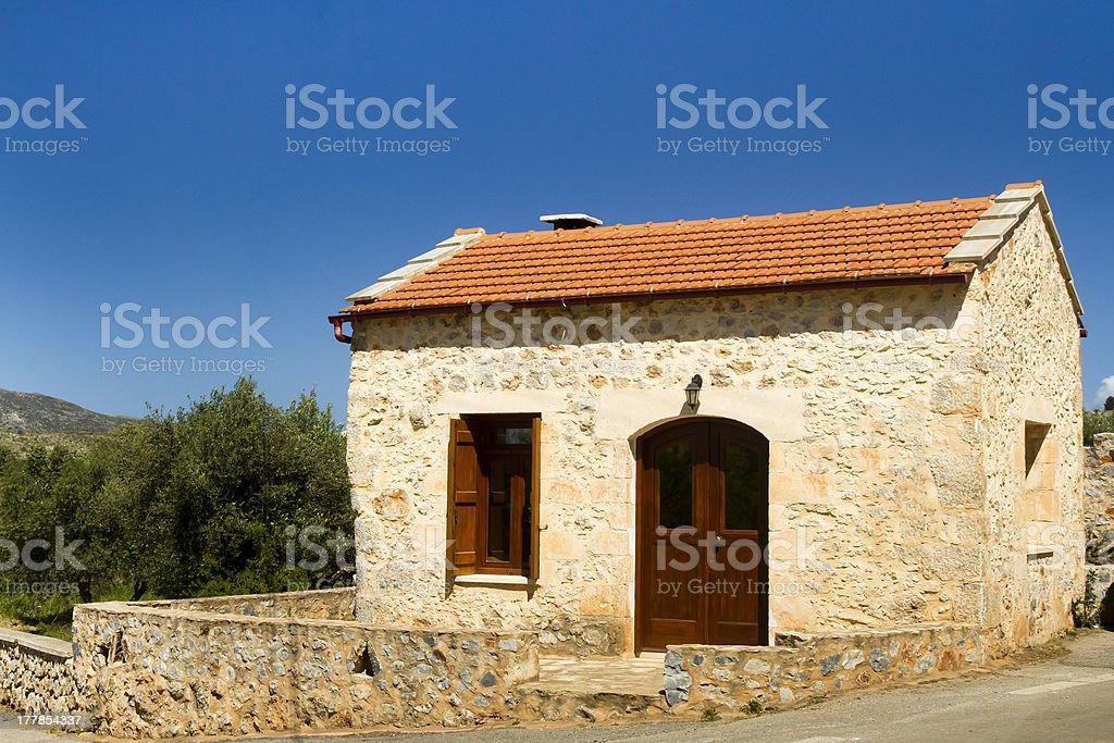 Traditional Cretan house royalty-free stock photo