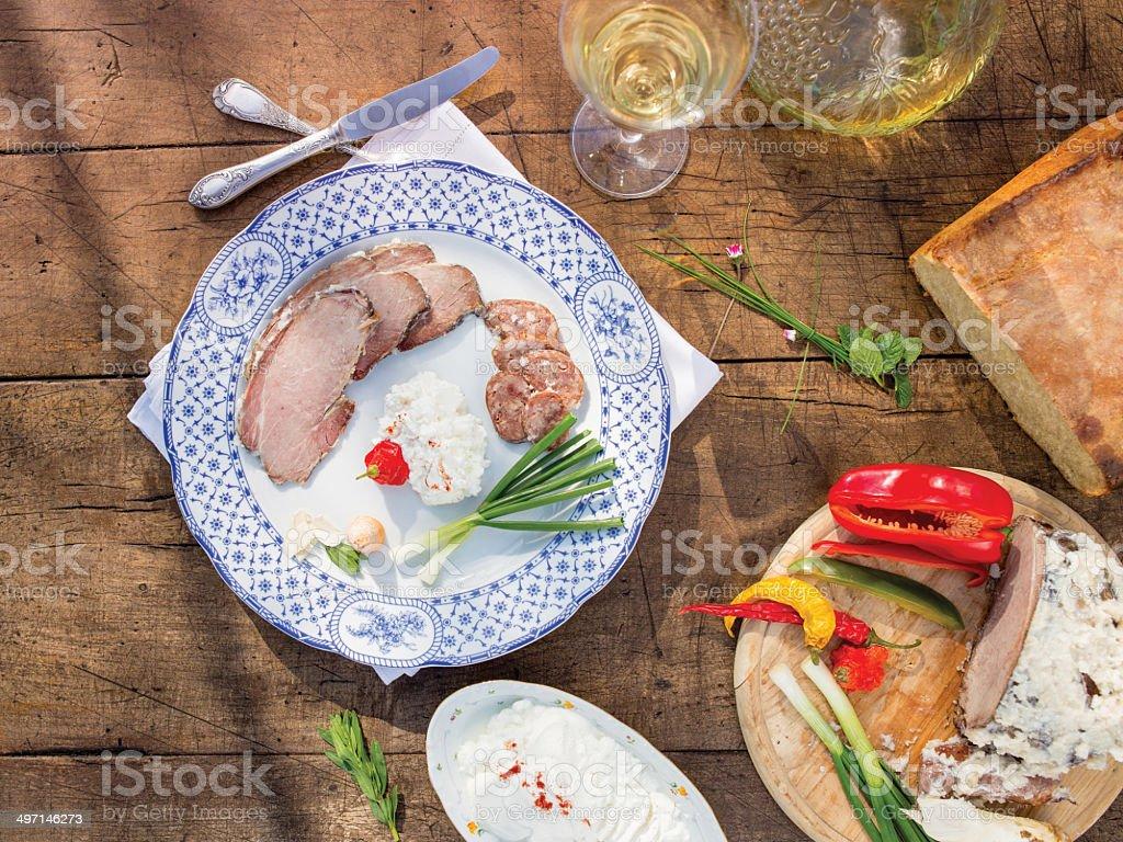 Traditional Croatian food stock photo