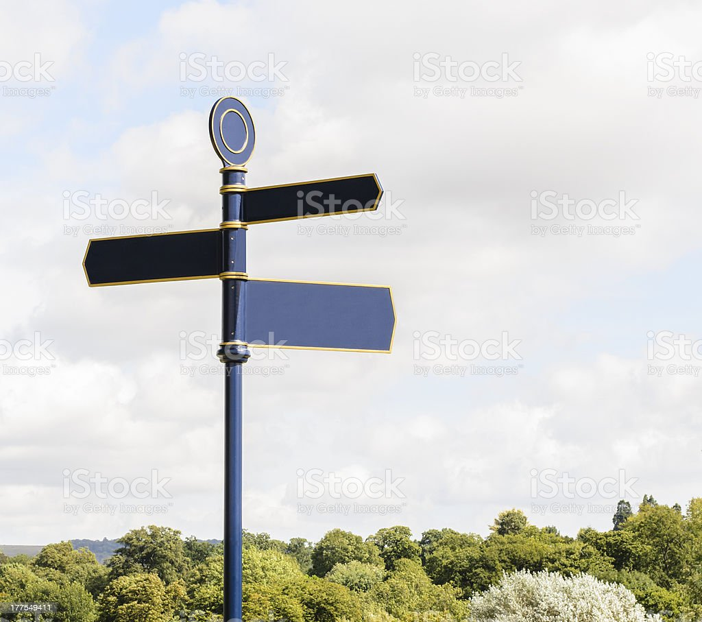 Traditional Crossroads Sign royalty-free stock photo