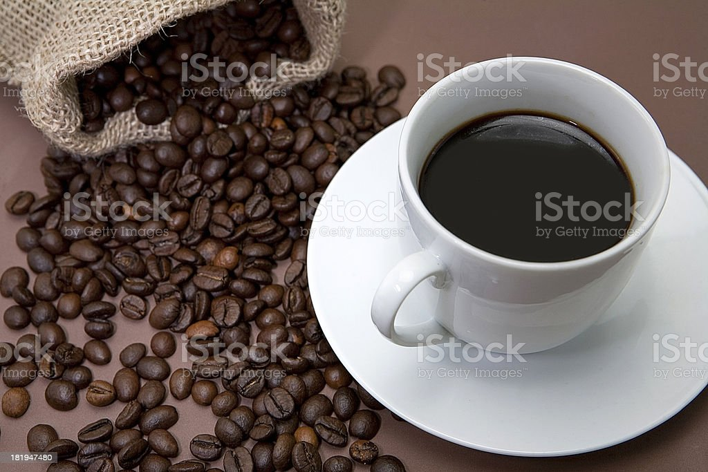 Traditional cup of coffee royalty-free stock photo