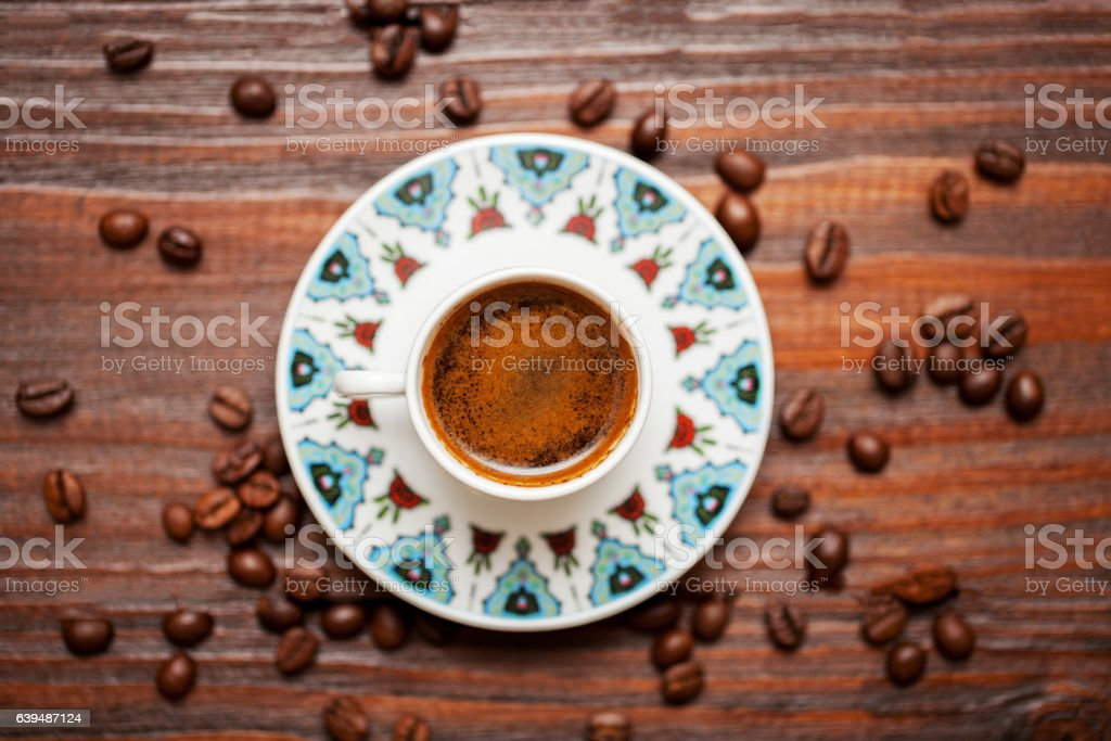 traditional cup of turkish coffee. stock photo