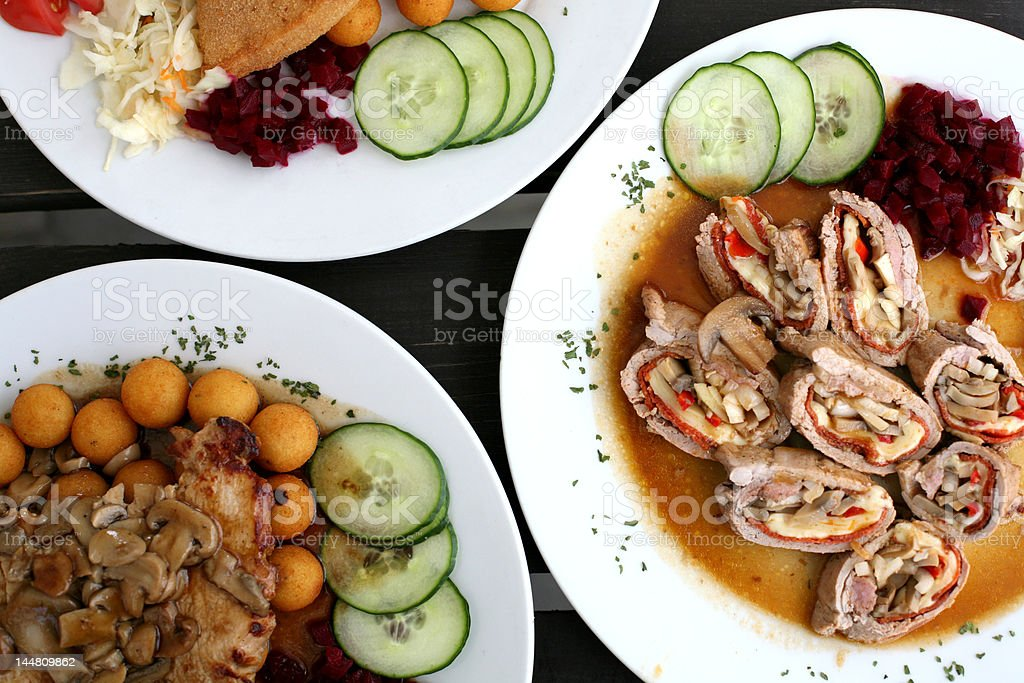 Traditional Czech Meals royalty-free stock photo