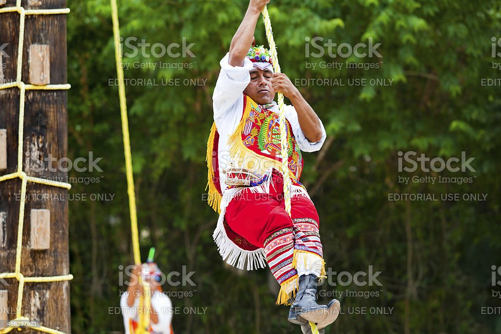 Traditional Dance of the Mayan Flyers Ceremony royalty-free stock photo