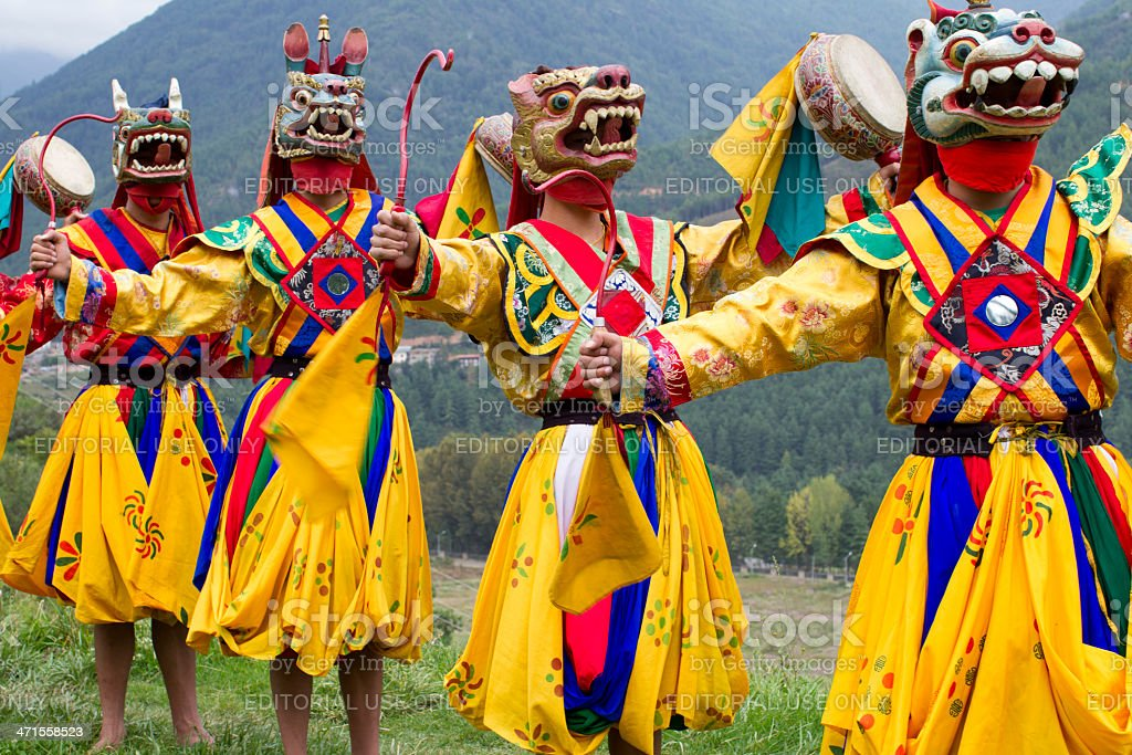 Traditional dance stock photo