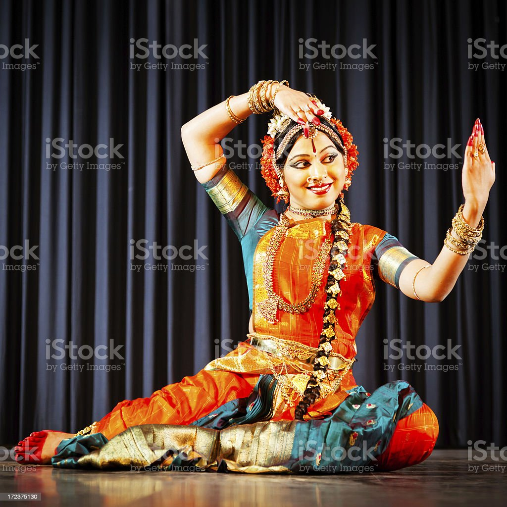Traditional dancer in India stock photo