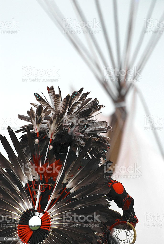 Traditional Dancer Tipi Background stock photo