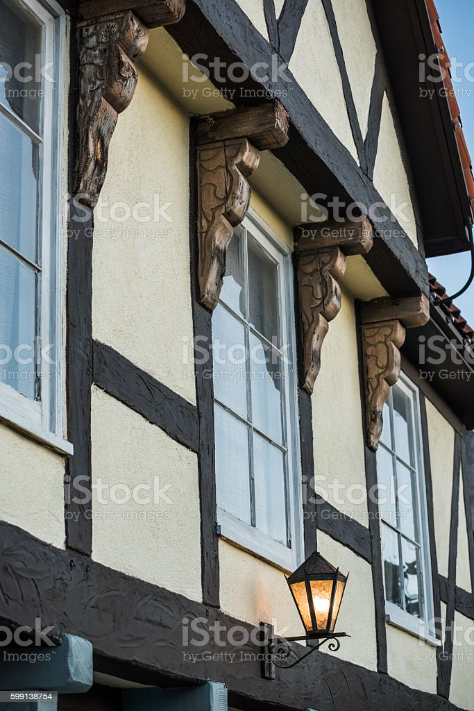 Traditional Danish architecture building stock photo