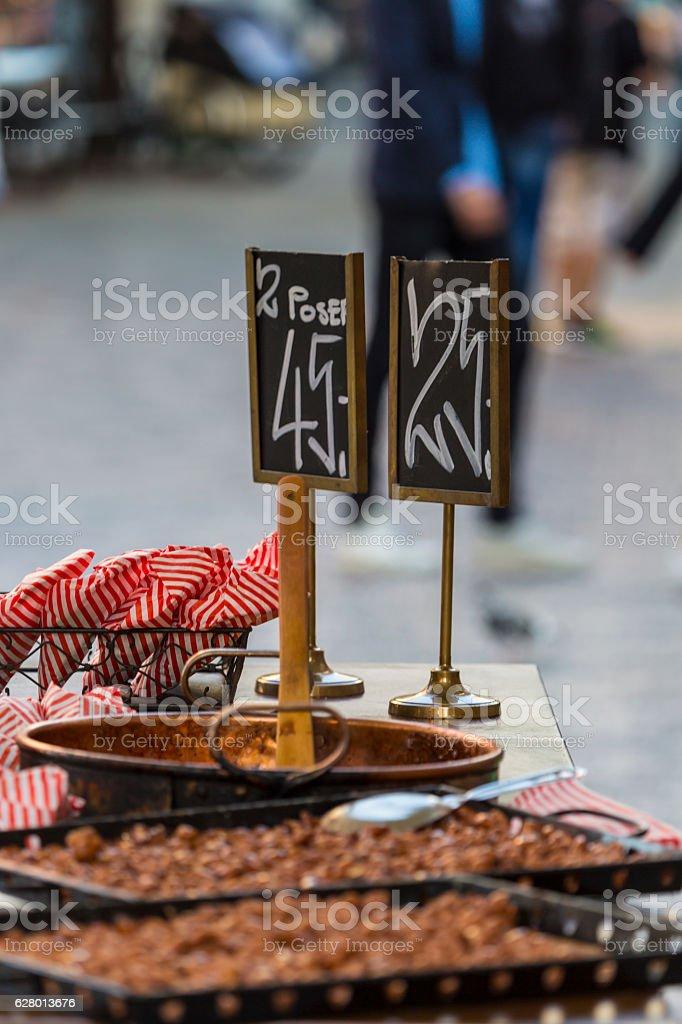 traditional danish street food stock photo