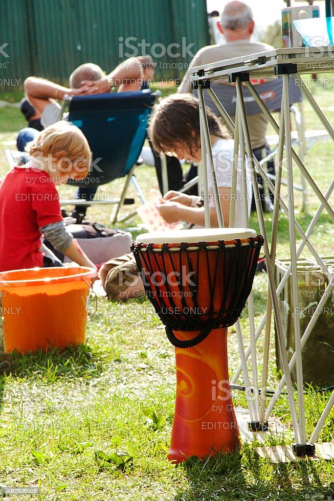 Tradizionale tamburo foto stock royalty-free