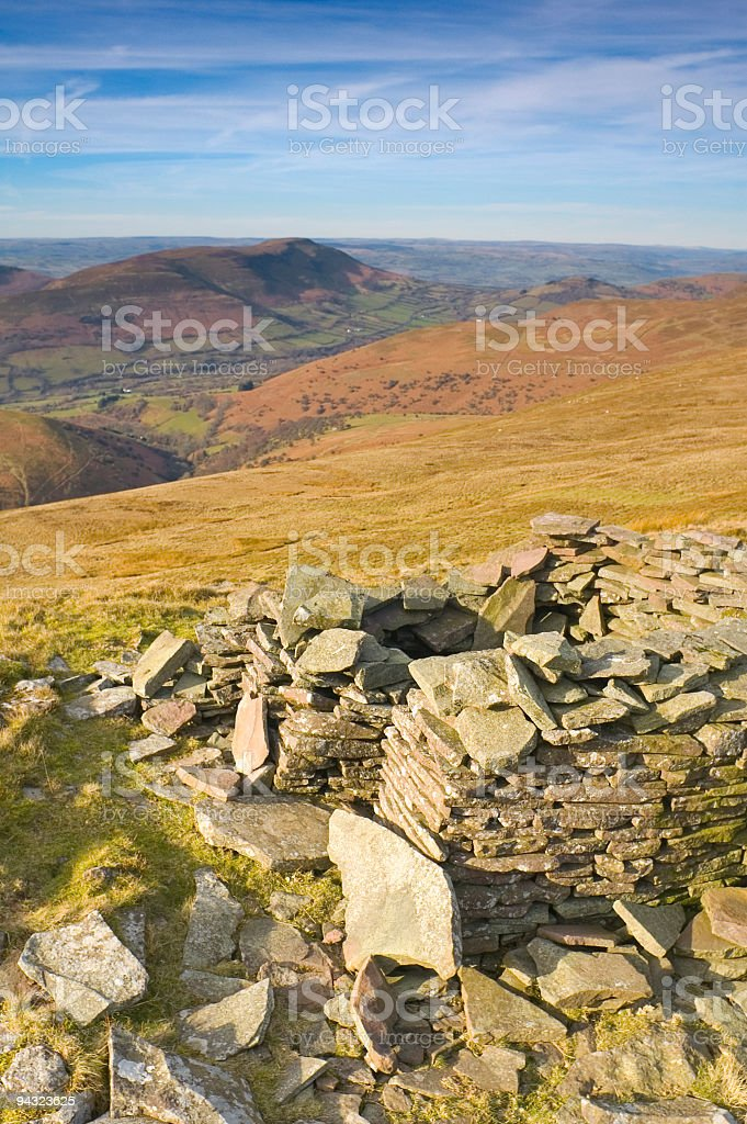Traditional dry stone shelter royalty-free stock photo