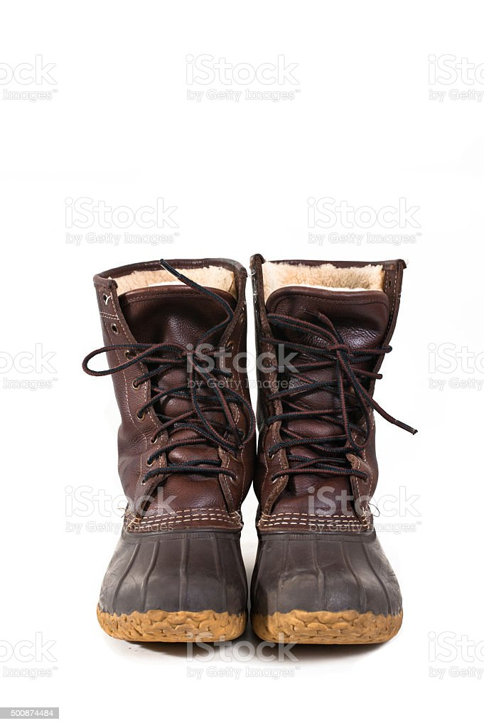 Traditional duck boots stock photo