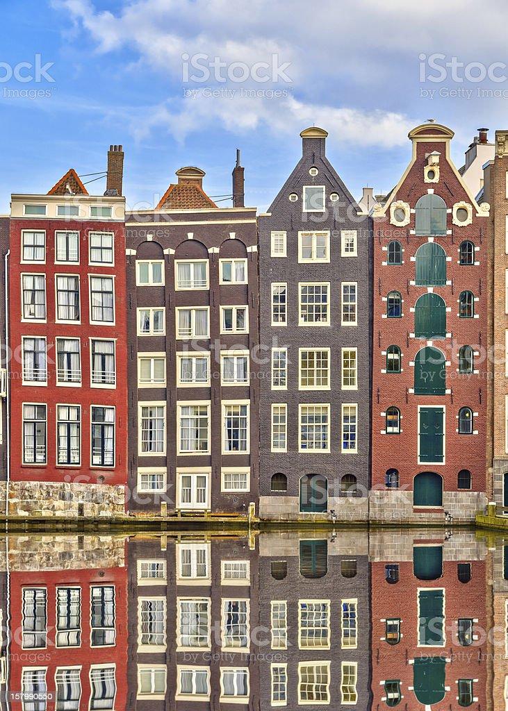 Traditional dutch buildings, Amsterdam stock photo