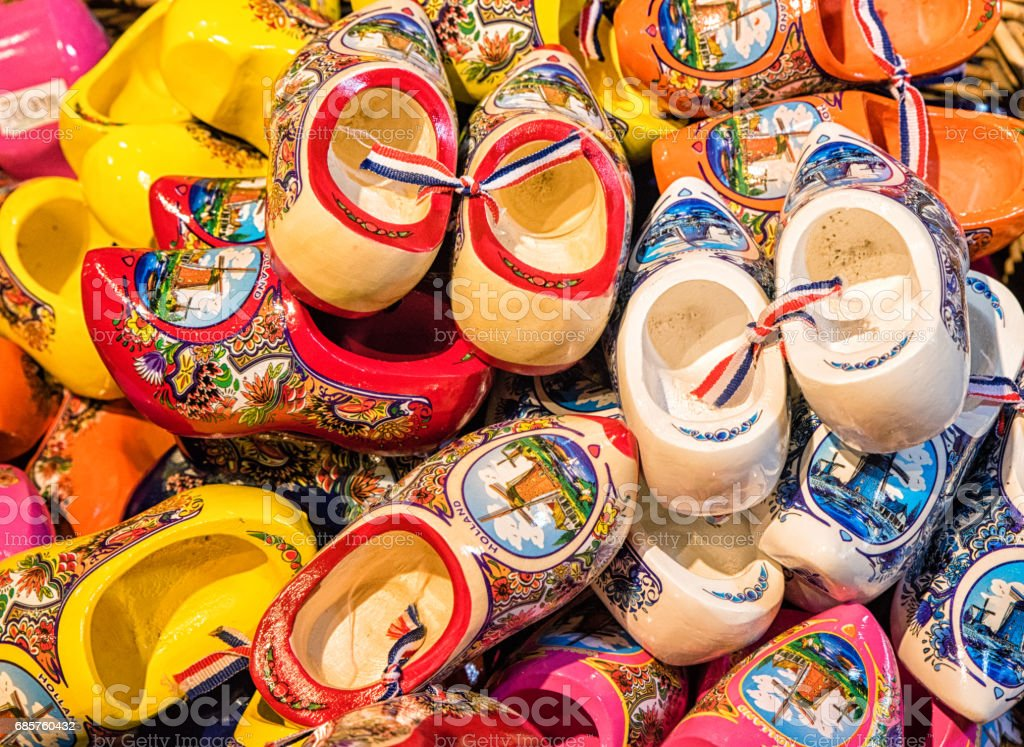 Traditional Dutch Clogs stock photo