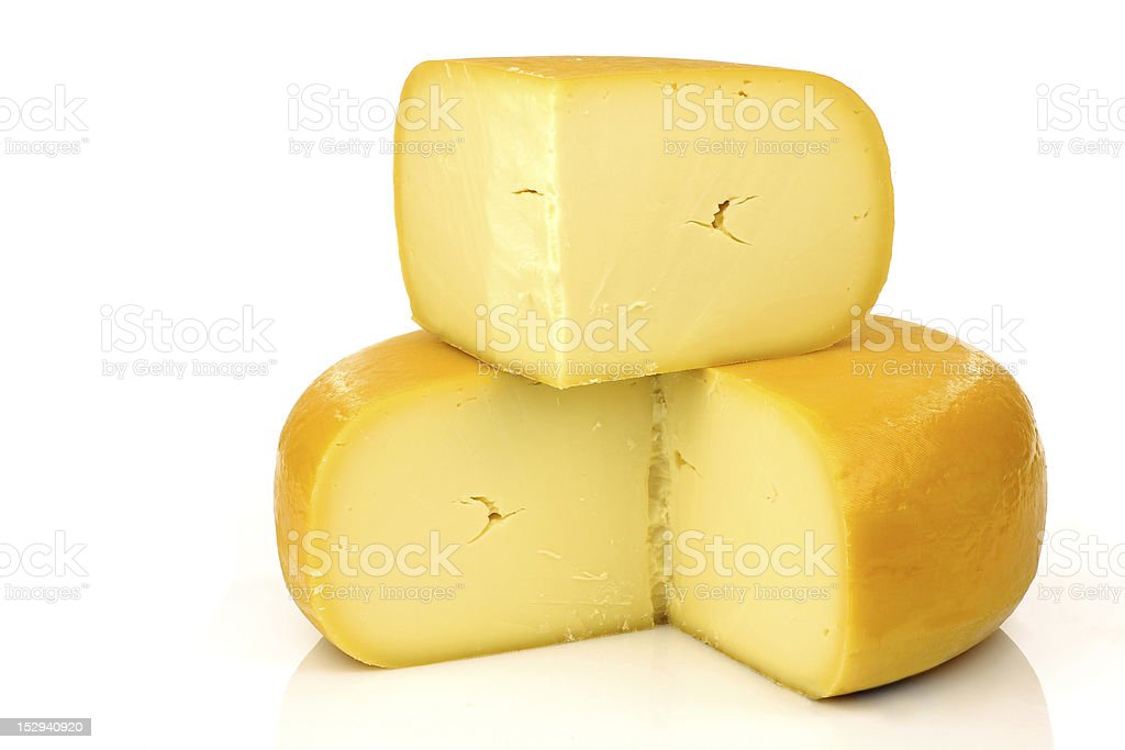traditional Dutch Gouda cheese stock photo
