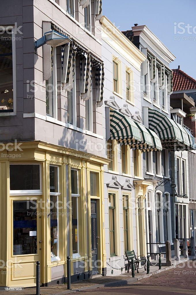 Traditional dutch houses in Gorinchem stock photo