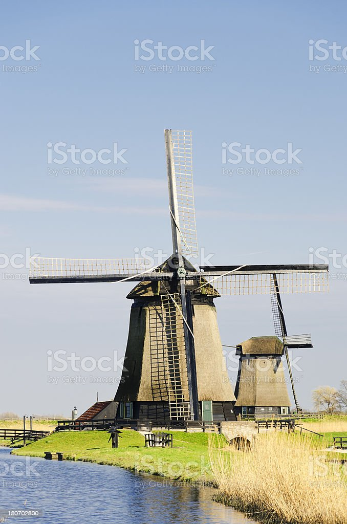 Traditional Dutch landscape royalty-free stock photo