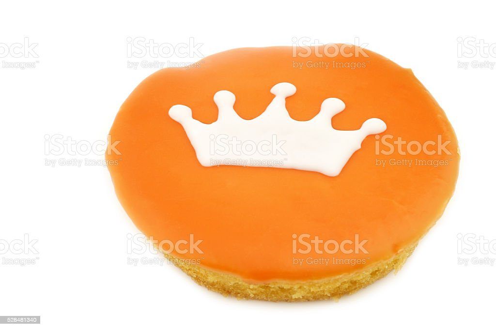 Traditional Dutch pastry with a crown stock photo