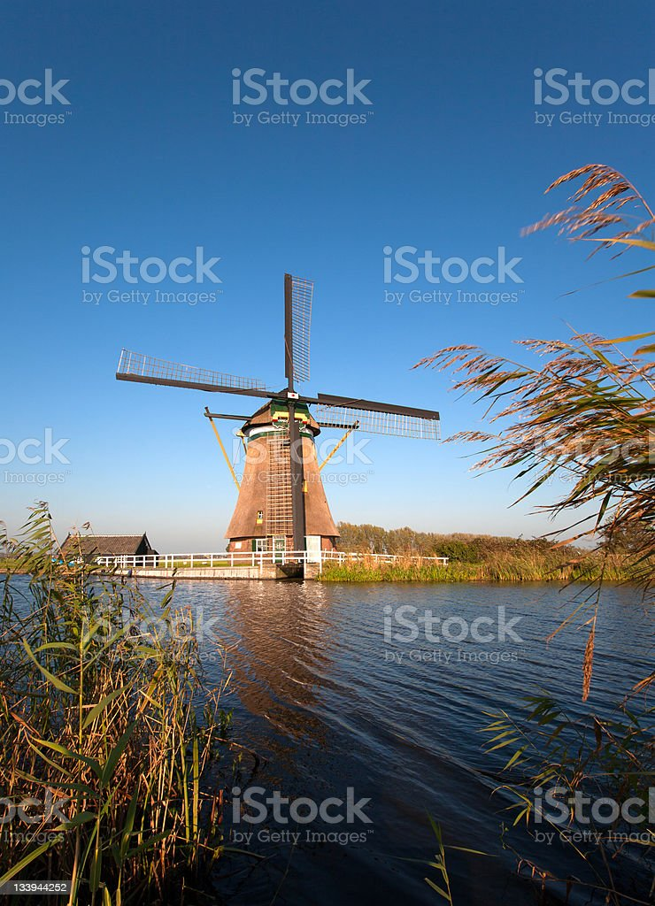 Traditional Dutch windmill royalty-free stock photo