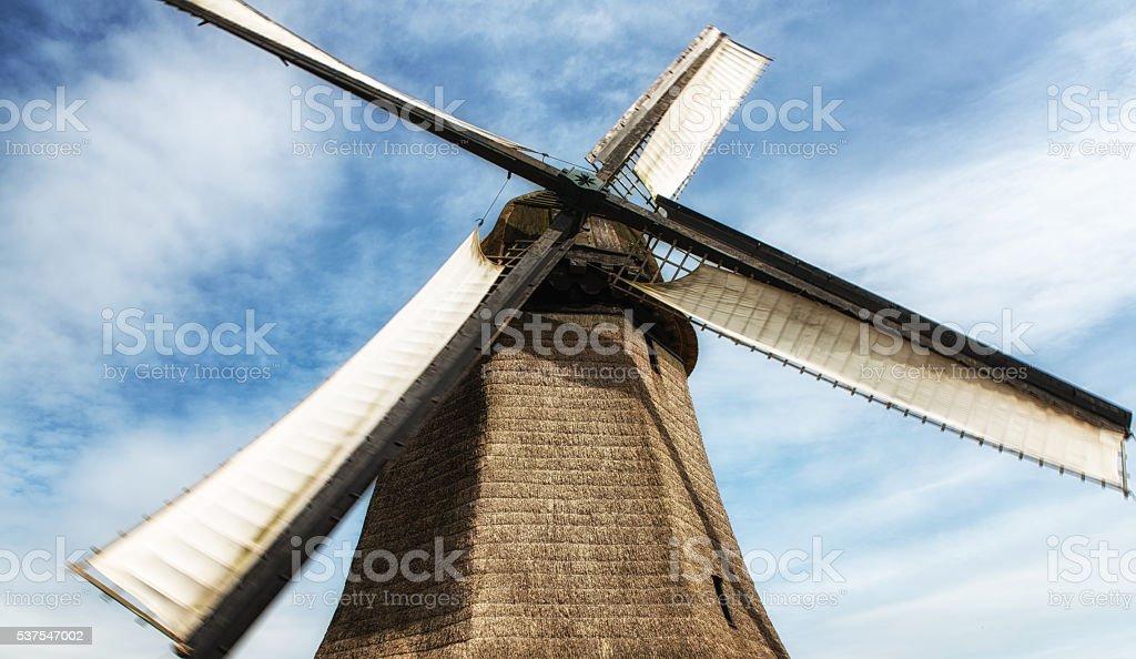 Traditional Dutch Windmill stock photo