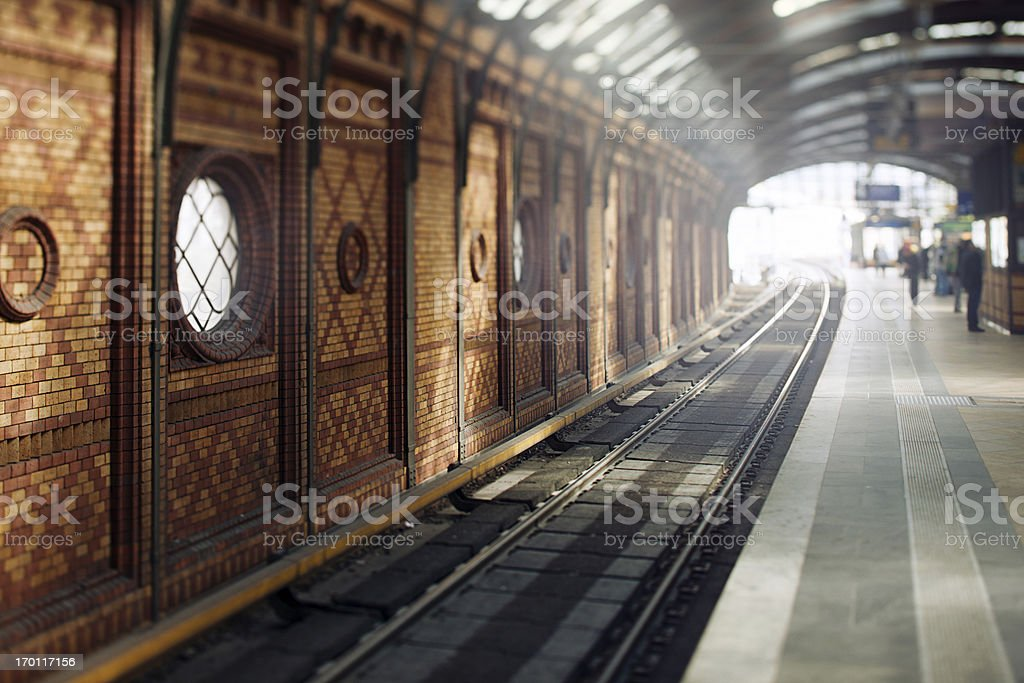 Traditional East Berlin Station stock photo