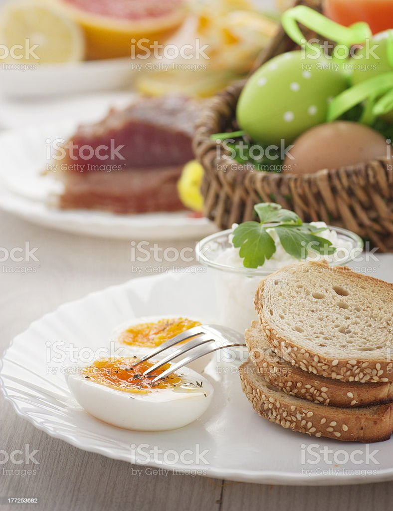 Traditional Easter breakfast royalty-free stock photo