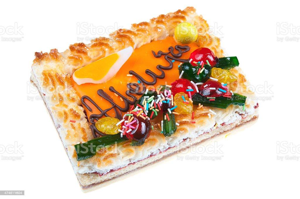 Traditional easter cake - mazurek stock photo