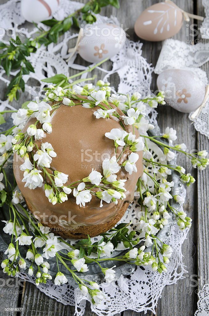 Traditional easter cake stock photo