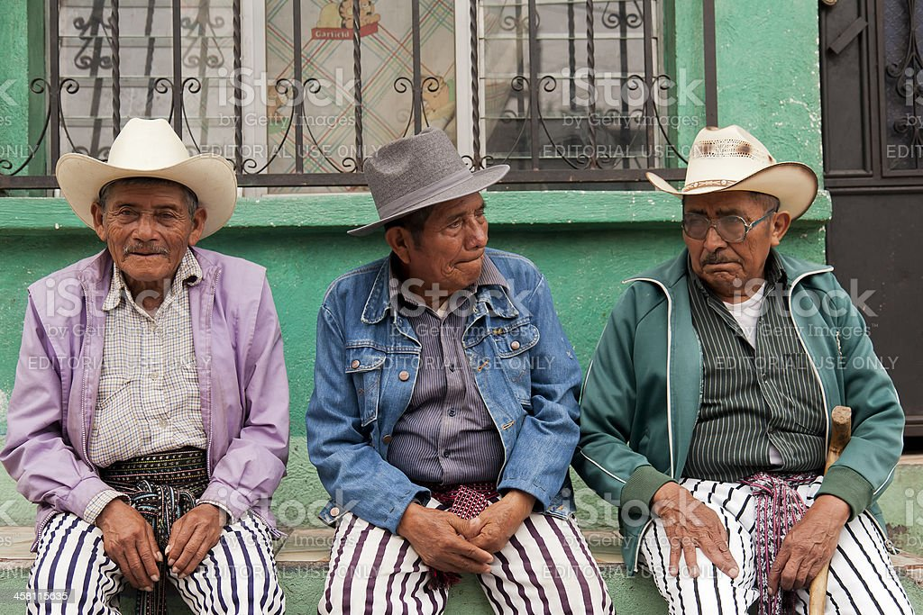 Traditional Easter clothing in Guatemala stock photo