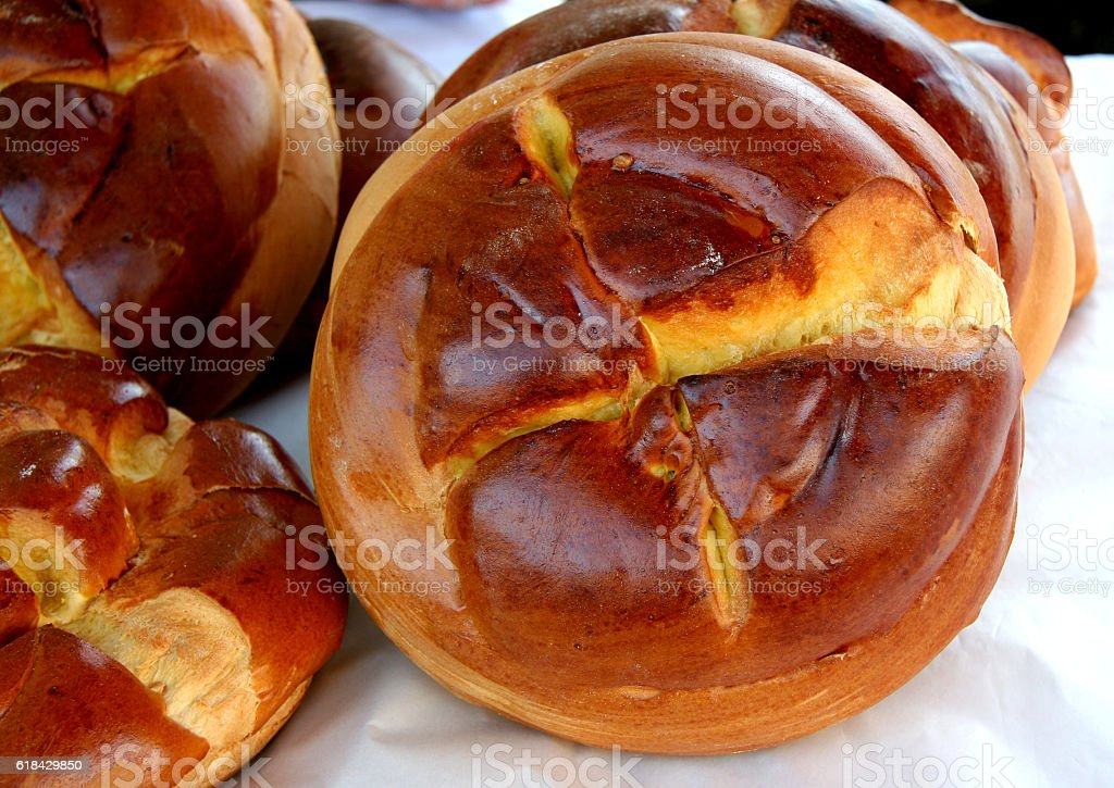 Traditional Easter Folar in Portugal stock photo