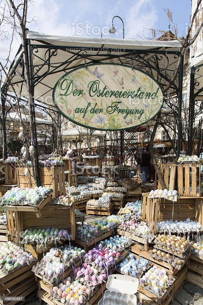 Traditional Easter Market In Vienna royalty-free stock photo