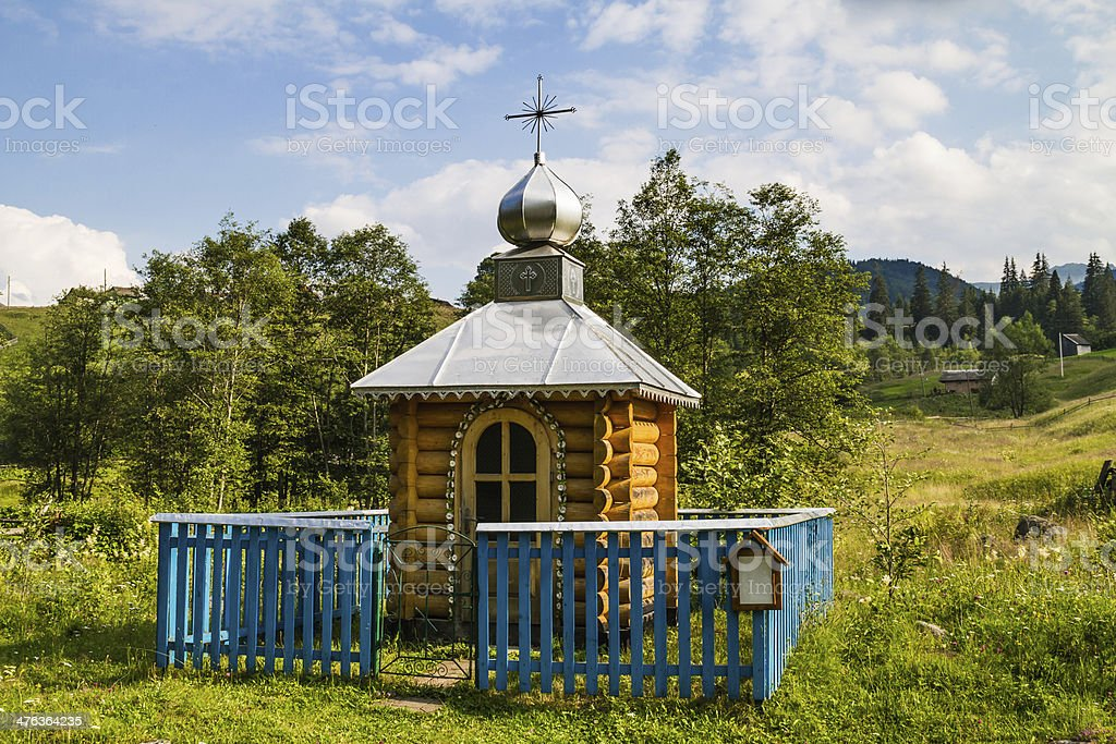 Traditional eastern orthodox chapel stock photo