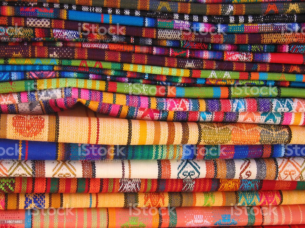 Traditional Ecuadorian Blankets royalty-free stock photo