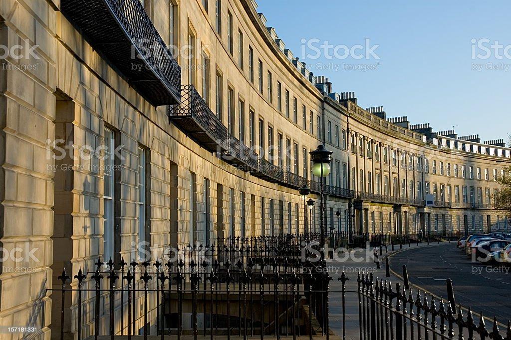 Traditional Edinburgh Street stock photo