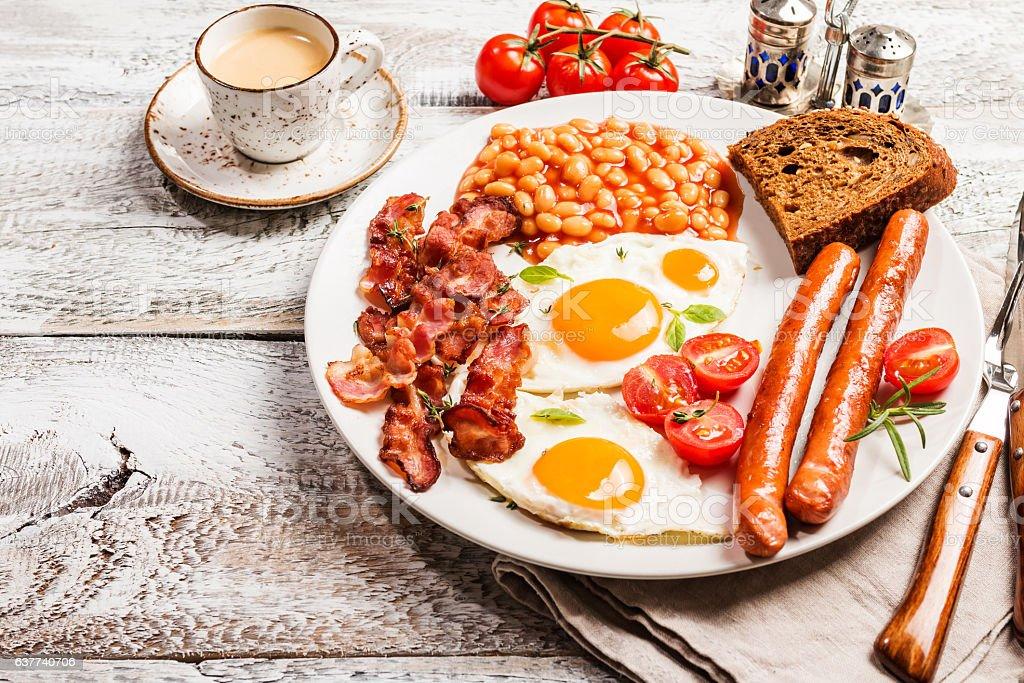 Traditional English Breakfast stock photo