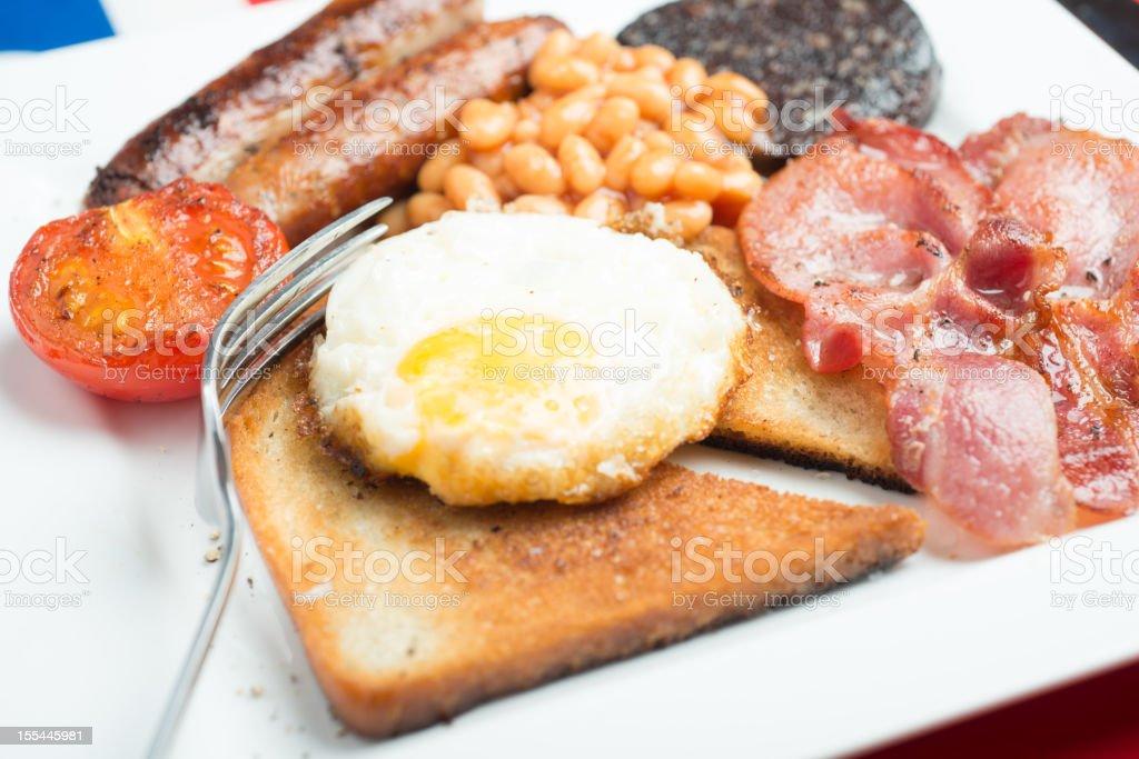 Traditional English British Fried Breakfast stock photo