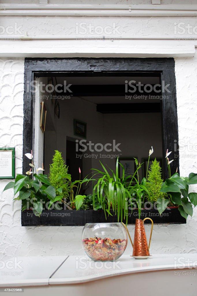 Traditional English cottage stock photo