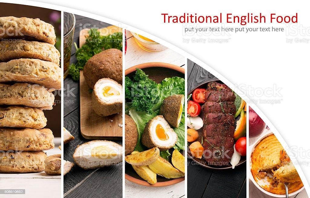 Traditional English Food stock photo