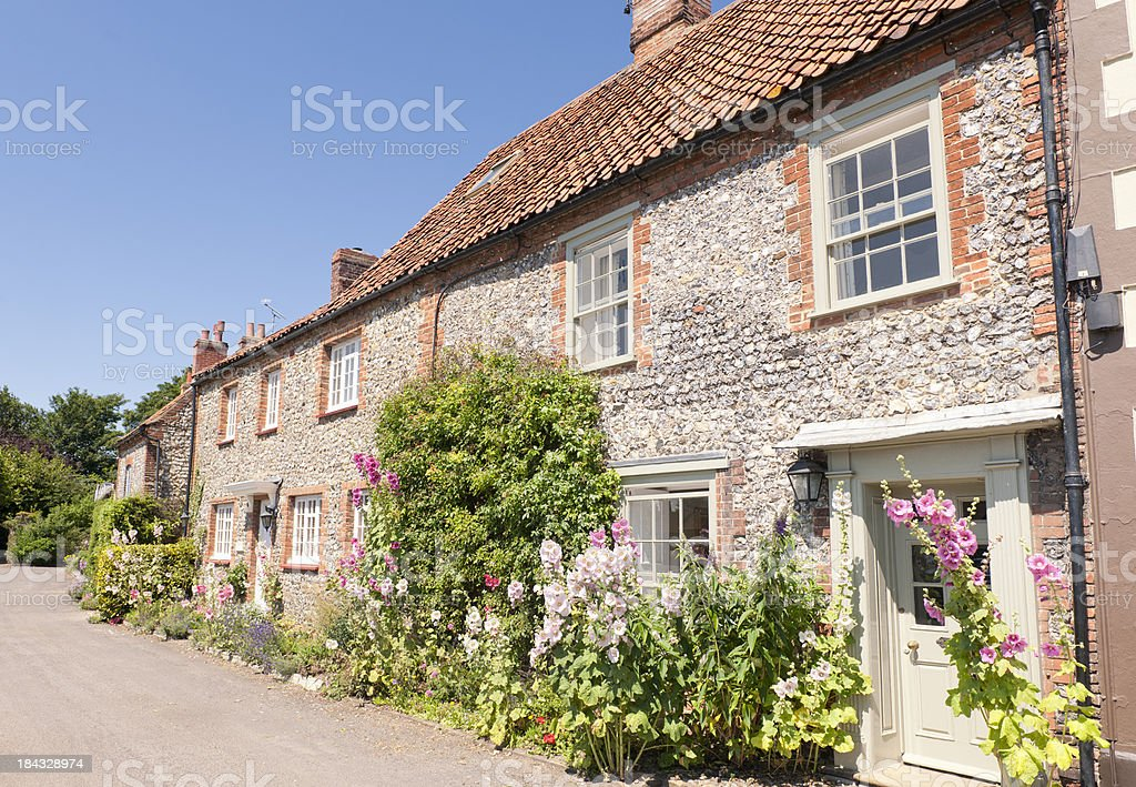 Traditional English Homes in Norfolk stock photo