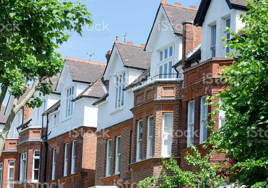 Traditional English homes stock photo