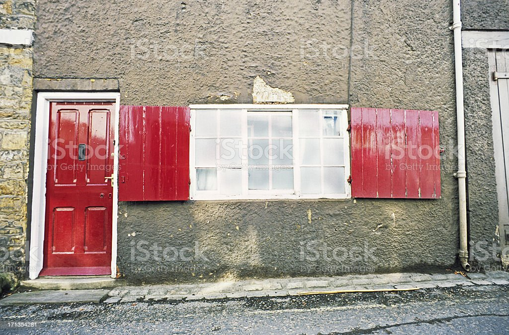 Traditional English house with window royalty-free stock photo