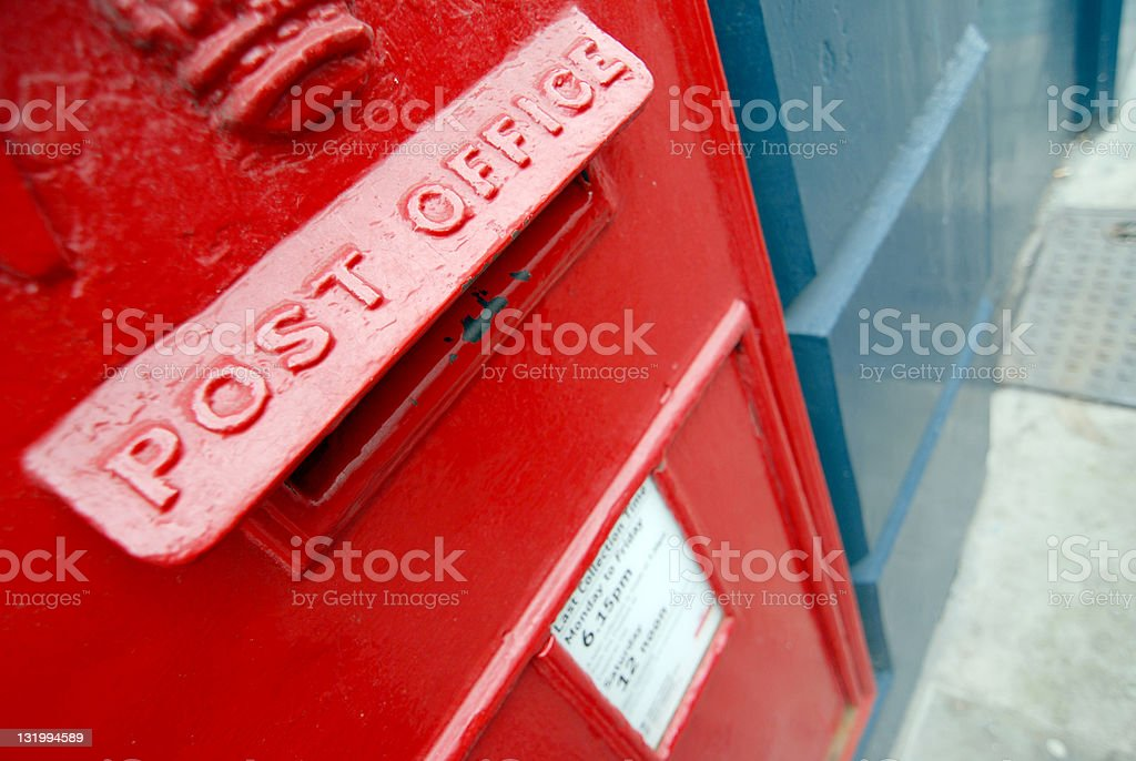 Traditional English mailbox royalty-free stock photo